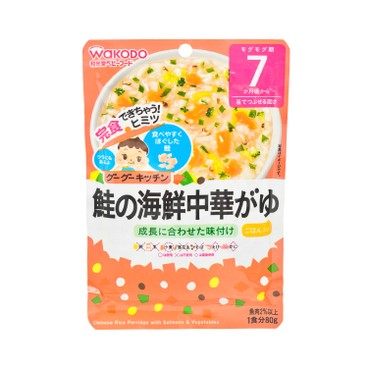 WAKODO - Chinese Rice Porridge With Salmons Vegetables - 80G