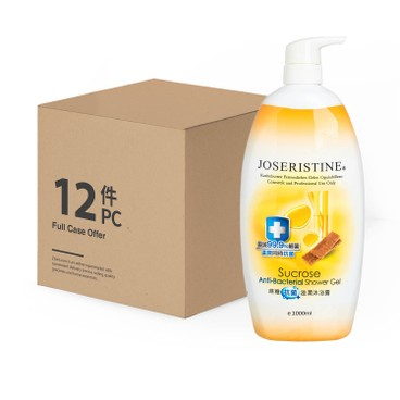 JOSERISTINE BY CHOI FUNG HONG - Sucrose Anti bacterial Shower Gel Full Case Offer - 1LX12
