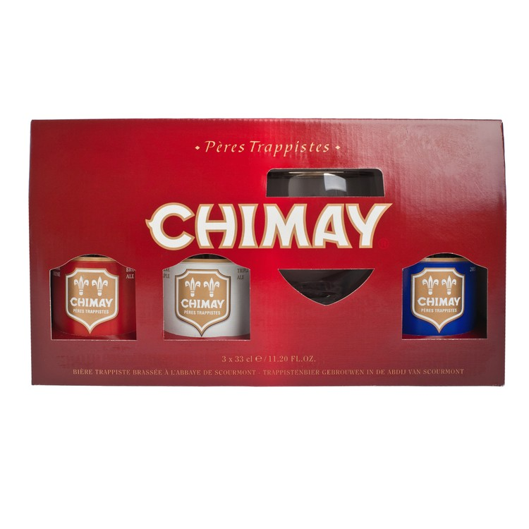 CHIMAY - TRILOGY GIFT PACK - 330MLX3 + PC