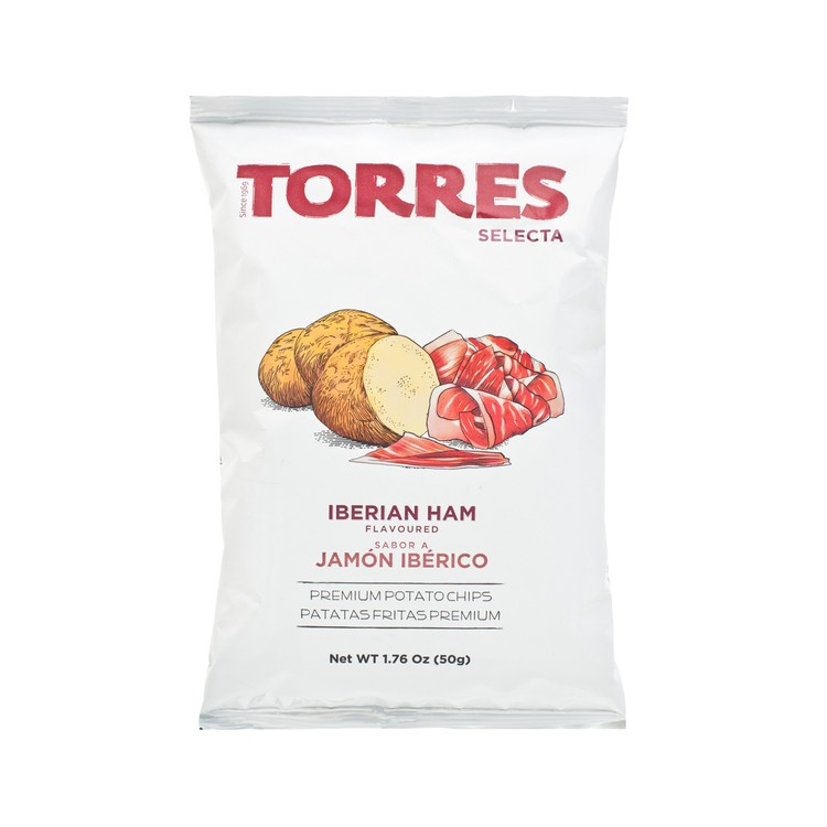 TORRES - IBERIAN HAM POTATO CHIPS - 50G