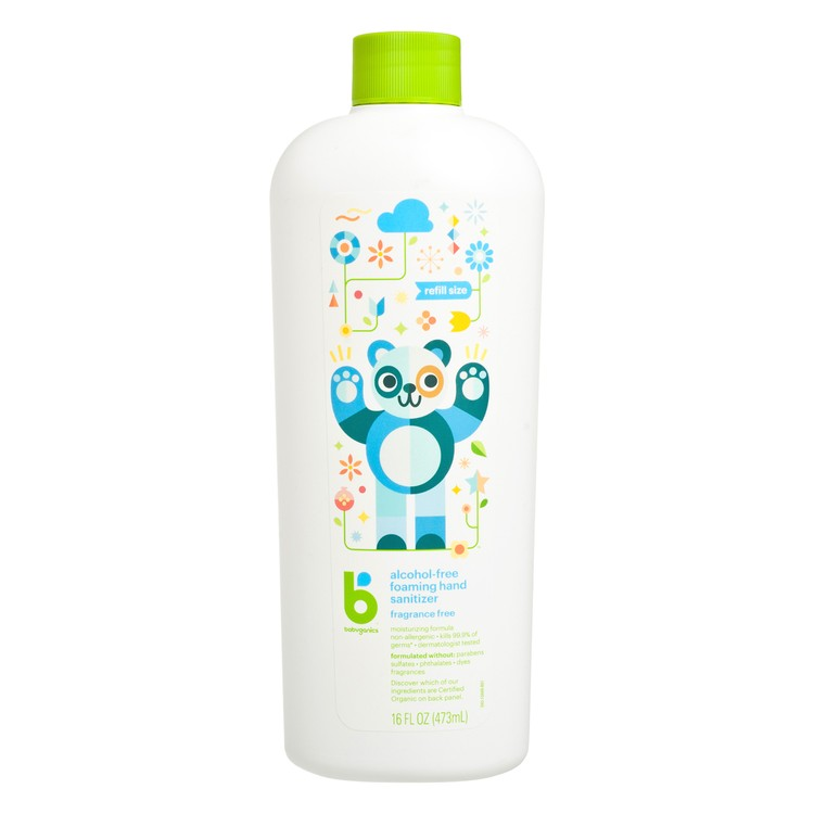 BABYGANICS(PARALLEL IMPORT) - HAND SANITIZER FRAGRANCE FREE (REFILL PACK) - 473ML