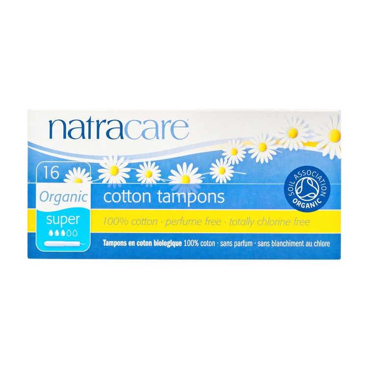 NATRACARE - TAMPONS WITH APPLICATOR-SUPER - 16'S