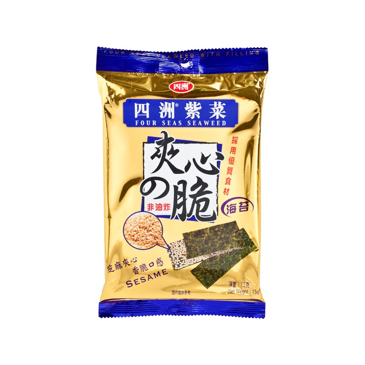 FOUR SEAS - SEAWEED WITH FILLING SESAME - 15G