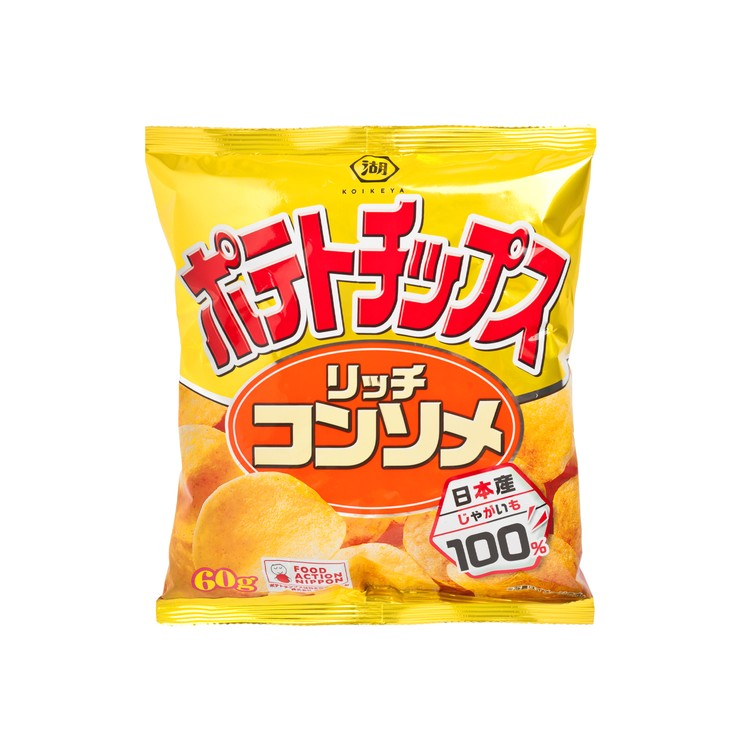 KOIKEYA - POTATO CHIP-CLEAR SOUP LIGHT SALT - 60G