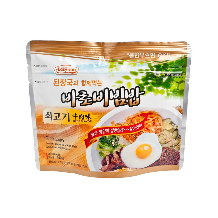 EASYBAB - INSTANT RICE- BEEF FLAVOR-WITH KOREAN BEAN-PASTE SOUP - 140G