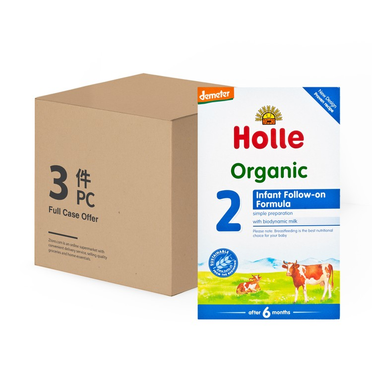 HOLLE - ORGANIC INFANT FOLLOW-ON FORMULA 2 - 600GX3